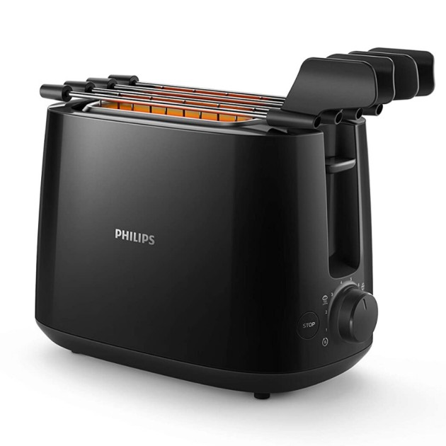 Philips Two Slice Pop Up Toaster Black (HD2583/90)