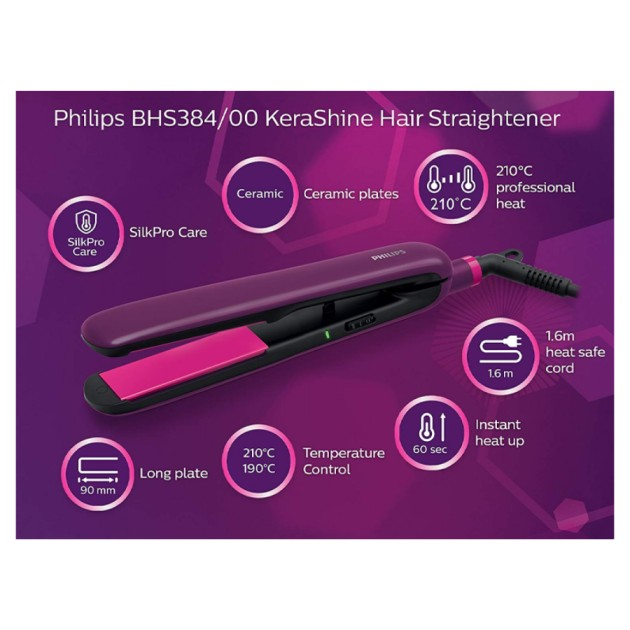 Philips Silkpro Care Hair Straighteners (BHS384/00)