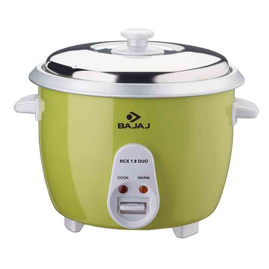 Bajaj 1.8 L Electric Rice Cooker (RCX 1.8 Duo, Lime Green)