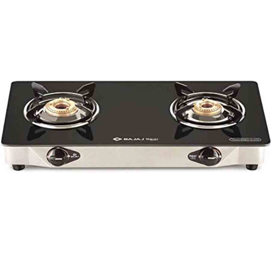Bajaj CGX 2 Eco Glass Body with Heavy Brass Burner GasStove