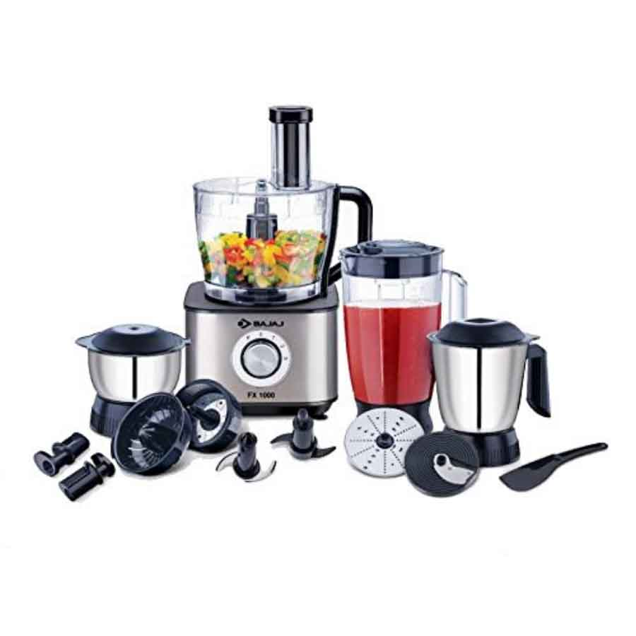 Bajaj FX-1000 ,1000-Watt Food Processor (Silver)