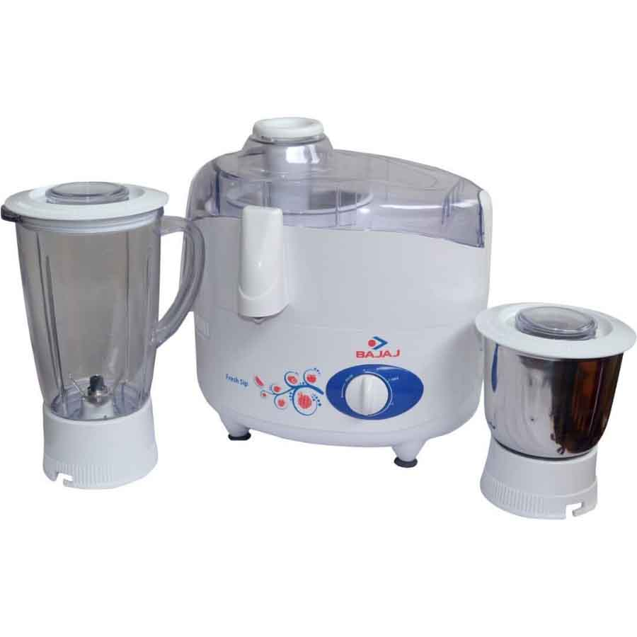 Bajaj FreshSip Juicer Mixer and Grinder 450-Watt(White)