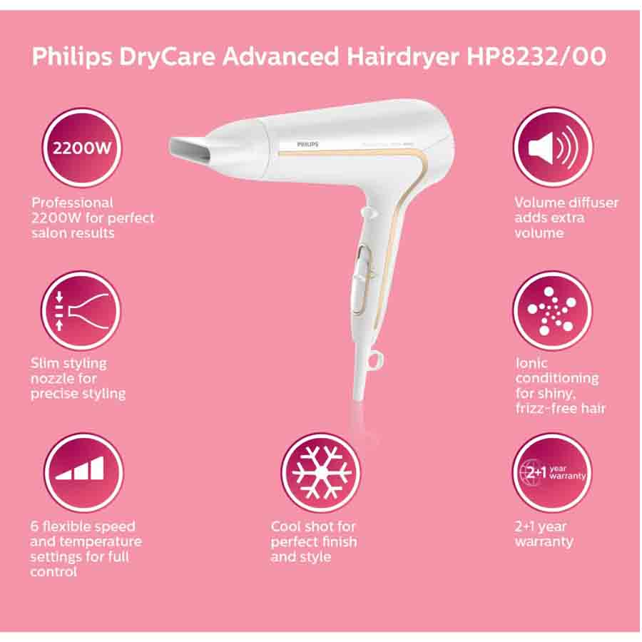 Philips Hair Dryers With Frizz Free Hair HP8232