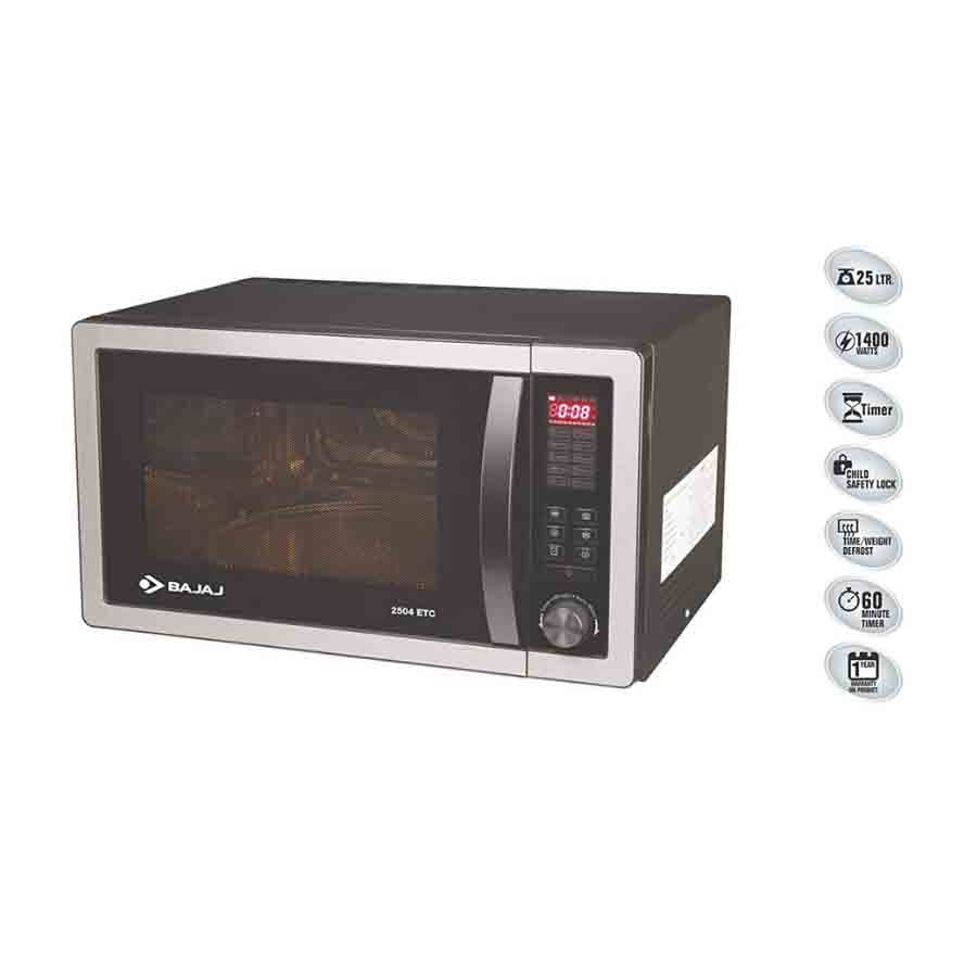 Bajaj 25 L Convection Microwave Oven (2504 ETC,Silver)