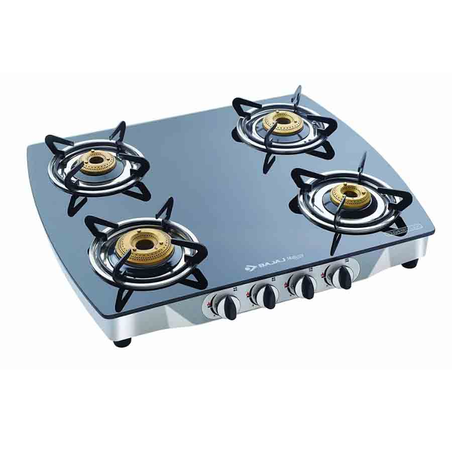 Bajaj CGX 4 Eco Glass Body with Heavy Brass Burner GasStove