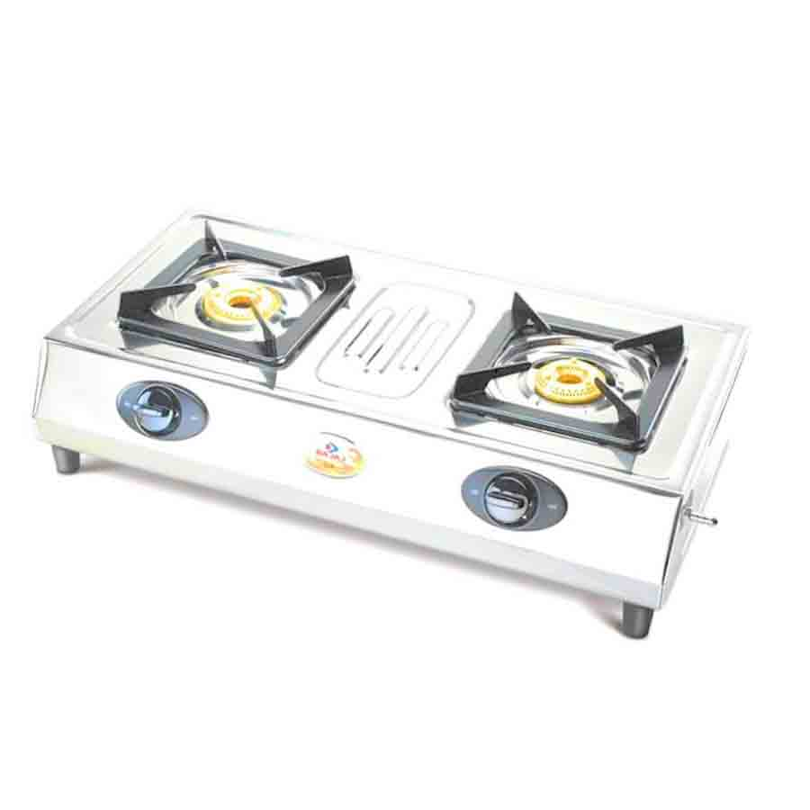 Bajaj CX 8 SS Gas Stove with Heavy Brass Burner