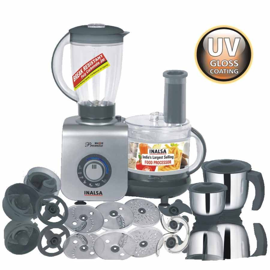 ₹9,495.00 ₹8,999.00 Key Features Centrifugal/Citrus Juicer 4 Function Discs Blades Optional Accessories Rack & Dust Cover Inalsa Kitchen Maxie Premia Food Processors quantity 1 Add to cart Add to Wishlist Categories: Food Preparation Appliances, Food Processors, Inalsa, Kitchen Appliances Tags: Food Processor, Inalsa Food Processors, Kitchen Food Processor Description Reviews (0)