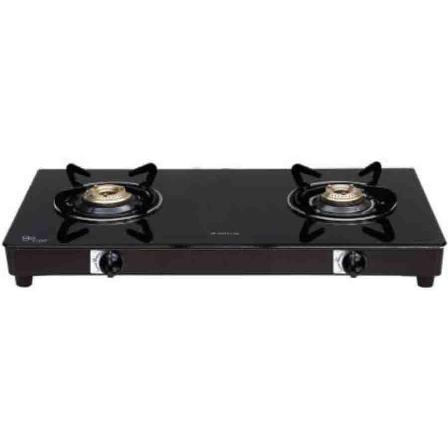 Elica Vetro Glass 662 CT VETRO BLK 2 Burner Gas Stove