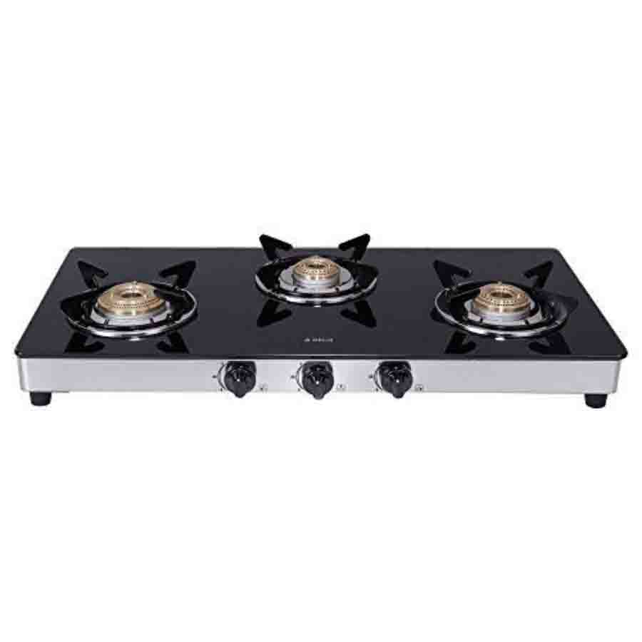 Elica Vetro Glass Top 3 Burner Gas Stove(773 CT DT VETRO)