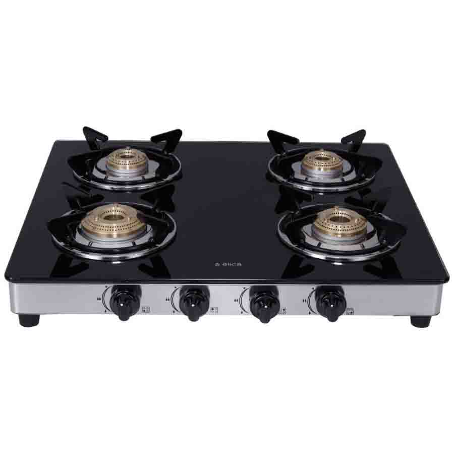Elica Vetro Glass 4 Burner Gas Stove (594 CT DT VETRO 1J)
