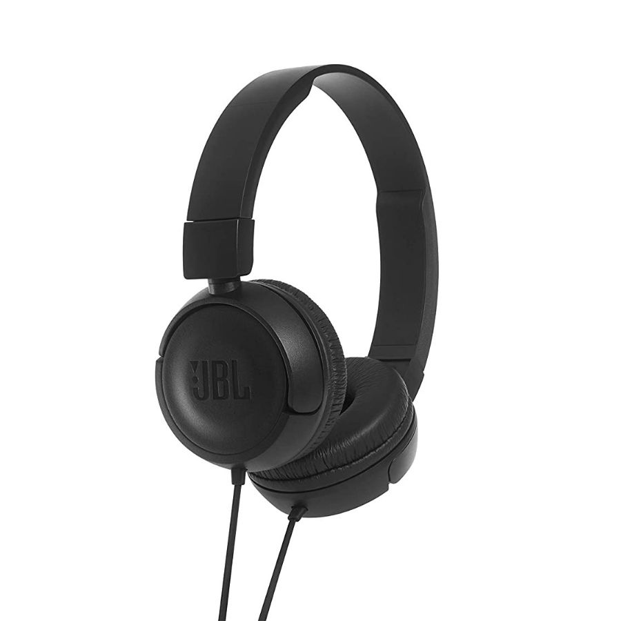 JBL T450 On-Ear Headphones with Mic(Black)